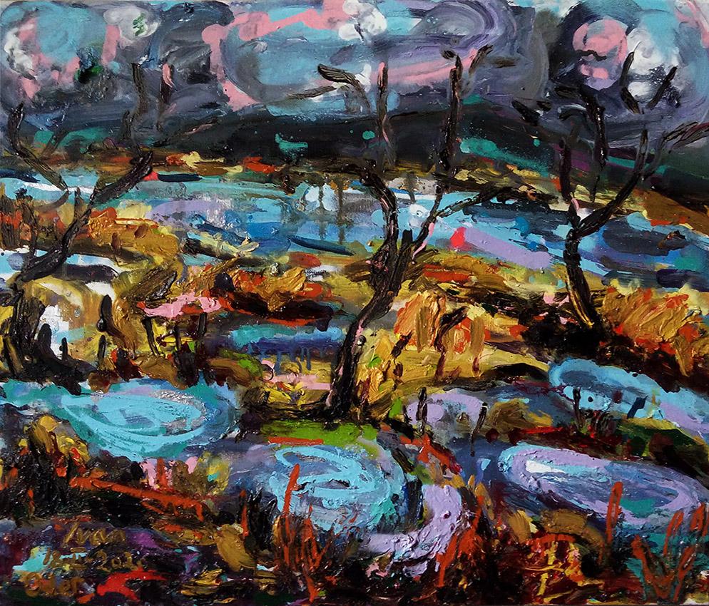 plein-air landscapes oderbruch on the oder mobile studio ivan jovanovic orsof